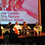 Money Summit 2011 panelists: Jay Castillo, Will Abriza, and Sha Nacino being interviewed by Air Daquioag