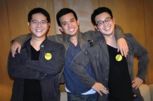 Audee with his friends John Ben Rodriguez and Carlo Lorenzo