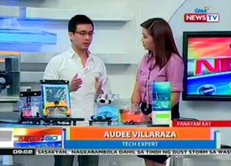 Audee Villaraza was interviewed on GMA News TV