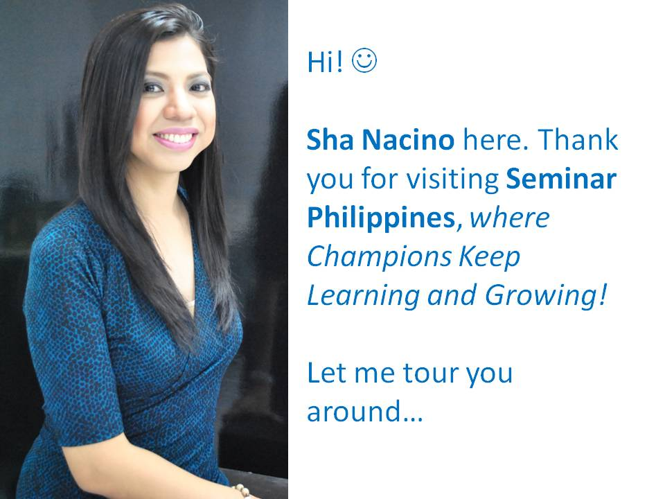 Sha Nacino Seminar Philippines