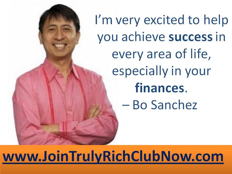 Truly Rich Club Bo Sanchez