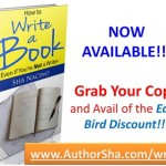 How to Write a Book, How to be a Best-Selling Author, Sha Nacino