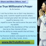 The True Millionaire's Prayer by Bo Sanchez