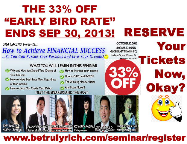 Reserve Your Tickets Now_Seminar Philippines