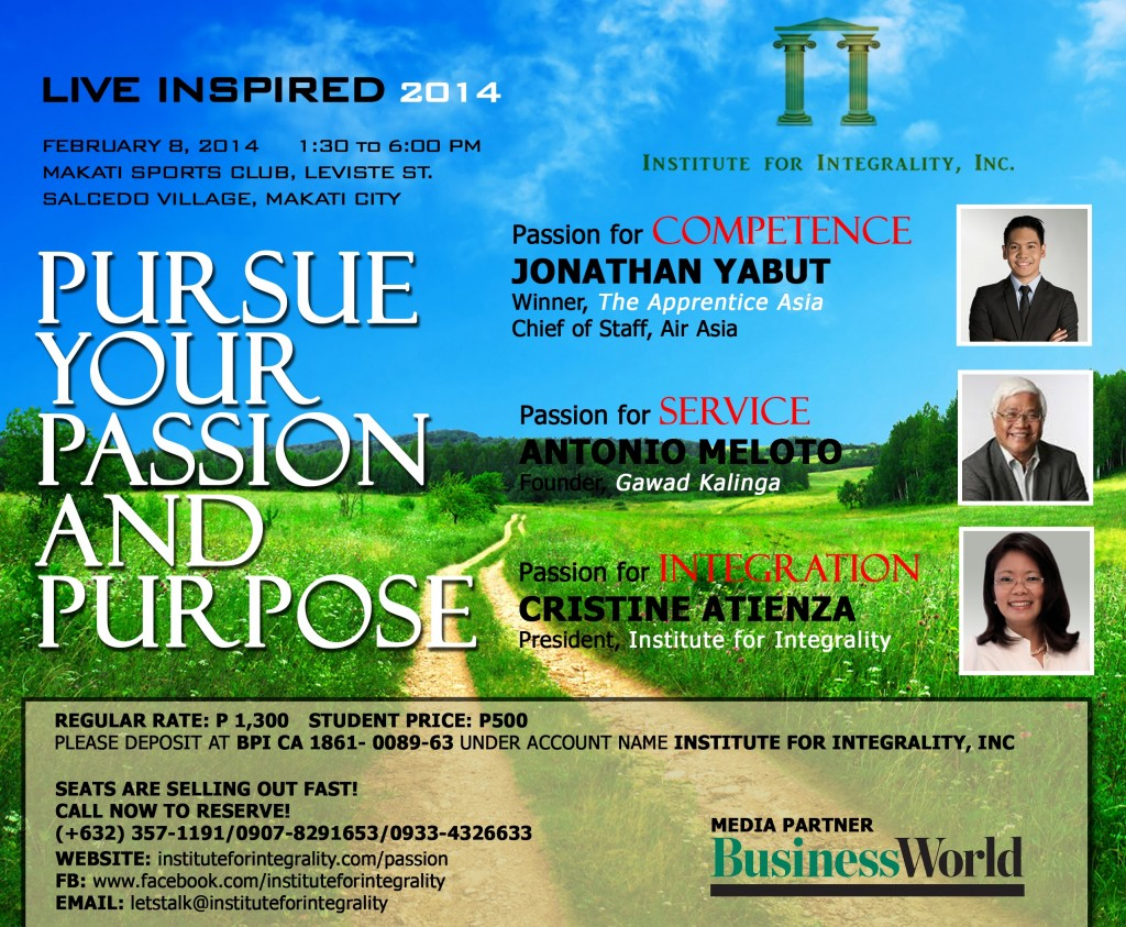 Live Inspired Poster with BusinessWorld