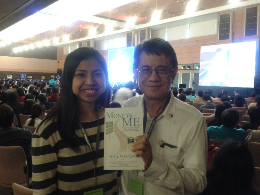 Sha Nacino and Dr. Larry Gamboa during Bro. Bo Sanchez's Wealth Summit 2014