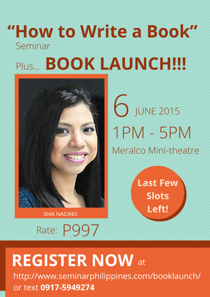 """How to Write a Book"" Seminar & Book Launch-revised"